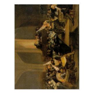 Cartão Postal Cena de uma inquisição, por Francisco de Goya