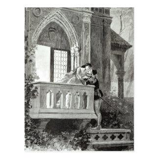 Cartão Postal Cena do ato II de Romeo e de Juliet