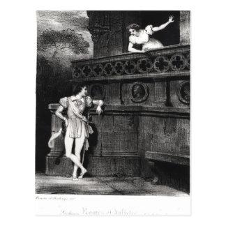 Cartão Postal Cena do ato III 'de Romeo e de Juliet