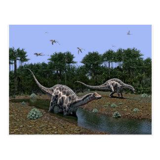 Cartão Postal Cena do Dicraeosaurus