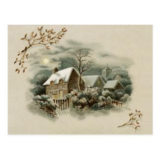 Cartão Postal Cena do inverno do Victorian