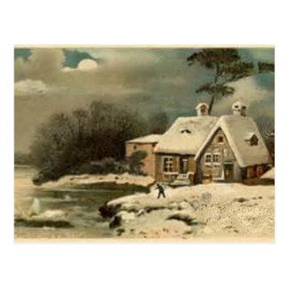 Cartão Postal Cena do inverno do vintage