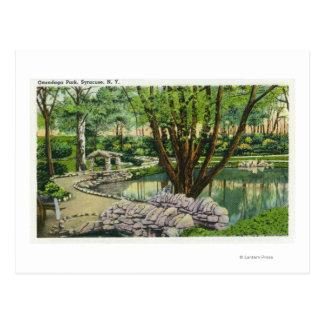 Cartão Postal Cena do parque do Onondaga