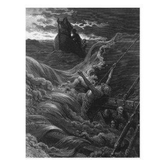 Cartão Postal Cena 'do Rime do Mariner antigo