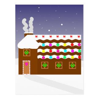Cartão Postal Cena doce do inverno do ~ da casa de