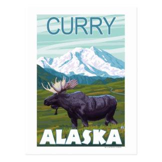 Cartão Postal Cena dos alces - caril, Alaska