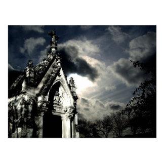 Cartão Postal Cena dramática do cemitério