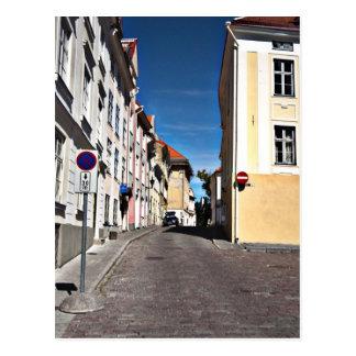 Cartão Postal Cena Estónia da rua