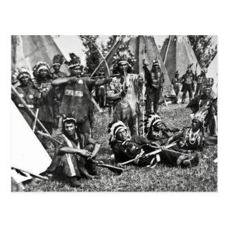 Cartão Postal Cena Iroquois do acampamento em Quebeque