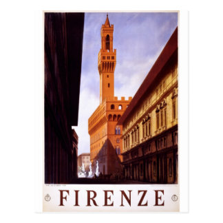 Cartão Postal Cena italiana do poster do turismo do vintage