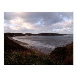 Cartão Postal Cena litoral da praia, Morfa Nefyn