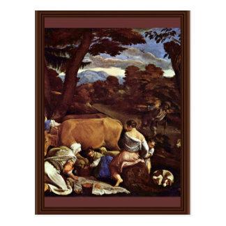 Cartão Postal Cena pastoral por Ponte Jacopo a Dinamarca (a