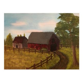 Cartão Postal Cena rural da fazenda