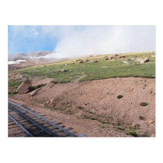 Cartão Postal Cenário ao longo da estrada de ferro de roda