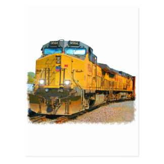 Cartão Postal Cenário da estrada de ferro