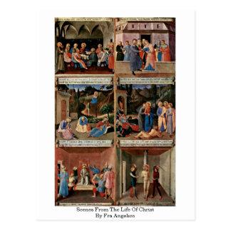 Cartão Postal Cenas da vida do cristo por Fra Angelico