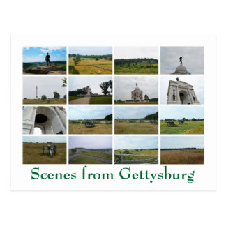 Cartão Postal Cenas de Gettysburg