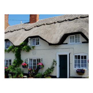 Cartão Postal Cenas inglesas, casas de campo Thatched,