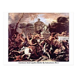 Cartão Postal Centauros e Lapiths-Batalha por Sebastiano Ricci