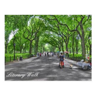 Cartão Postal Central Park literário da caminhada, New York