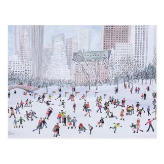 Cartão Postal Central Park New York 1994 da pista de patinagem