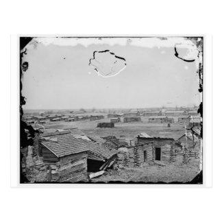 Cartão Postal Centreville, Va. Quartos de inverno confederados