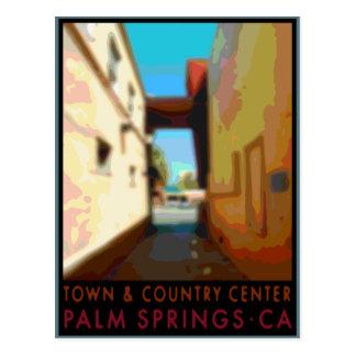 Cartão Postal Centro da cidade & do país do Palm Springs