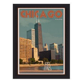 Cartão Postal Centro de Chicago - de John Hancock