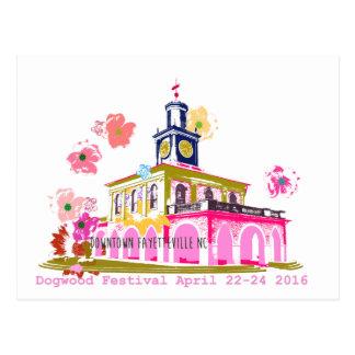 Cartão Postal Centro Fayetteville NC do festival 2016 do Dogwood
