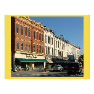 Cartão Postal Centro HONESDALE, Pensilvânia