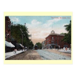 Cartão Postal Centro, Montclair, vintage de New-jersey