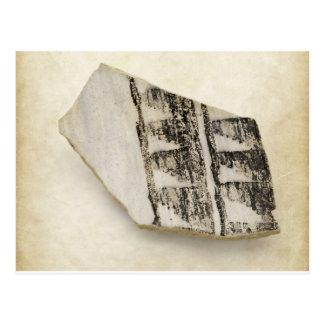 Cartão Postal Cerâmica antiga do nativo americano de Anasazi do