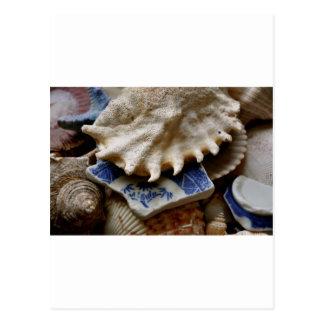 Cartão Postal Cerâmica azul do mar