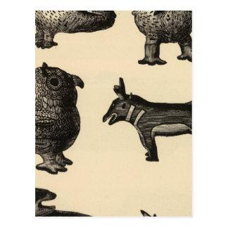 Cartão Postal Cerâmica da efígie de Zuni