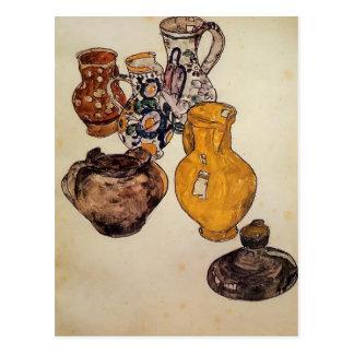 Cartão Postal Cerâmica de Egon Schiele-