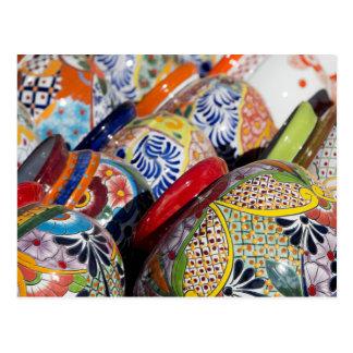 Cartão Postal Cerâmica mexicana pintado à mão tradicional