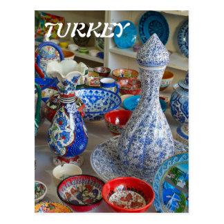 Cartão Postal Cerâmica turca