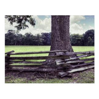 Cartão Postal Cerca de trilho rachado de Natchez
