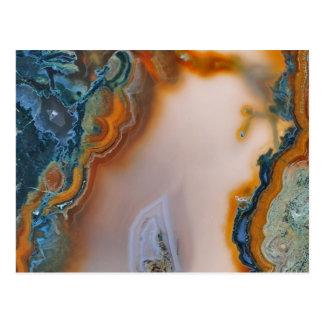Cartão Postal Cerceta & ágata translúcidas da oxidação