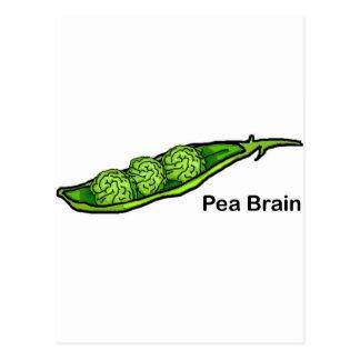 Cartão Postal Cérebro da ervilha