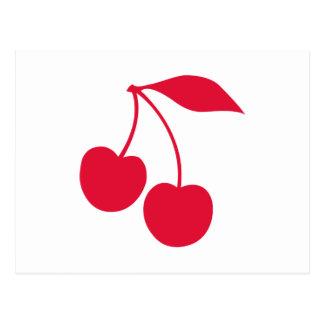 Cartão Postal Cerejas vermelhas