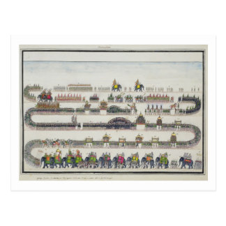 Cartão Postal Cerimónia de Muharram, Faizabad, 1772 'do Gentil