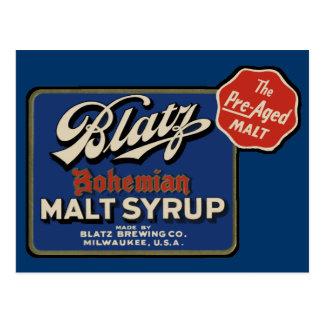 Cartão Postal Cerveja de Blatz do vintage