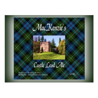 Cartão Postal Cerveja inglesa de Leod do castelo de MacKenzie