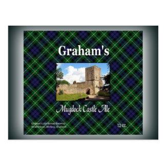 Cartão Postal Cerveja inglesa do castelo do Mugdock de Graham