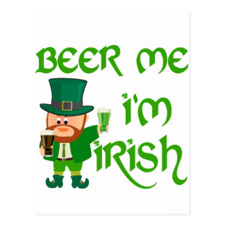 Cartão Postal Cerveja mim, eu sou irlandês
