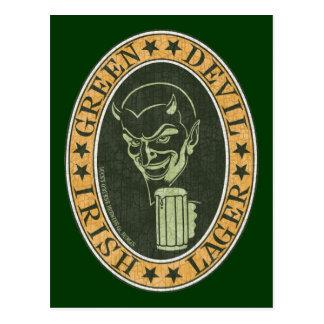 Cartão Postal Cerveja pilsen verde do diabo