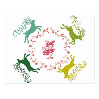 Cartão Postal Cervos