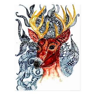 Cartão Postal Cervos Art01 principal