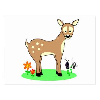 Cartão Postal Cervos bonitos dos desenhos animados